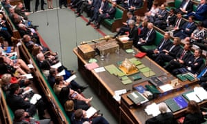 Theresa May at the dispatch box during PMQs. 'The decay of two-party domination had been obscured by the first-past-the-post voting system, with changes in voting not fully reflected in parliament,' writes Alan Taylor.