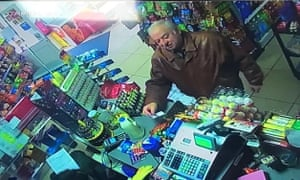 A CCTV image of Sergei Skripal