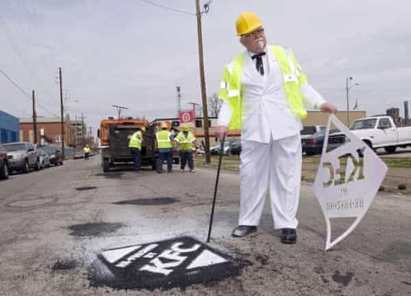 KFC filled 350 potholes in Louisville, Ky in 2009