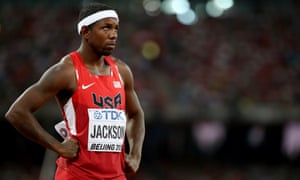 Bershawn Jackson failed to make it past the first round of the 400m hurdles.