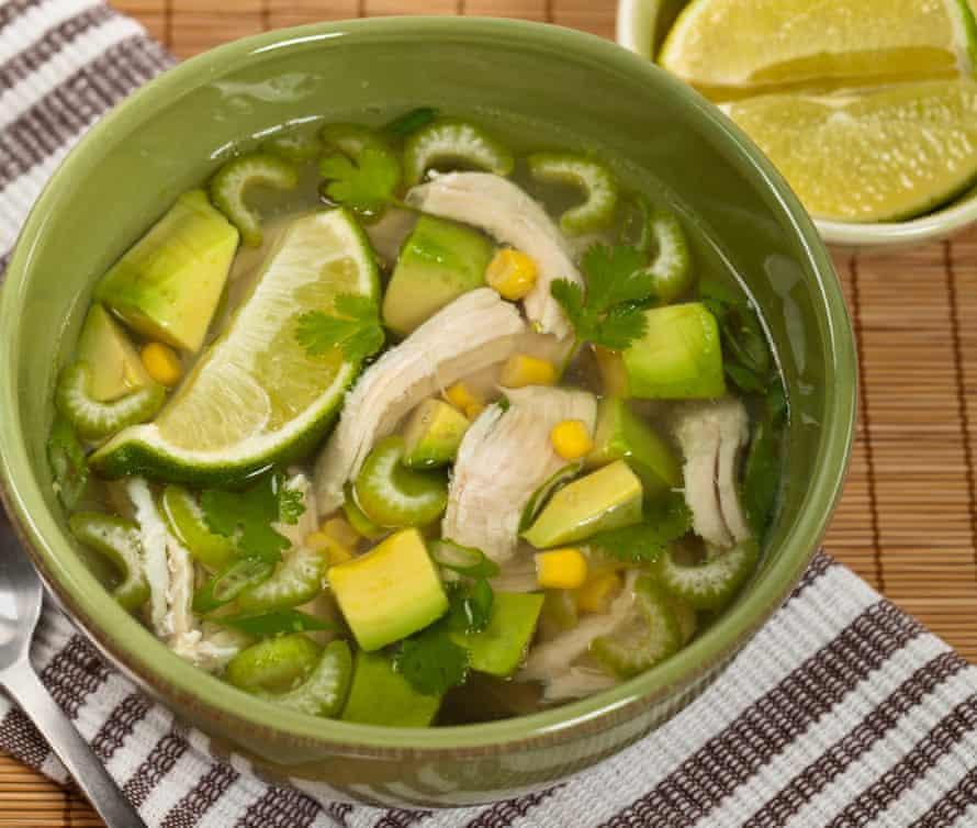 Chicken avocado and lime soup.