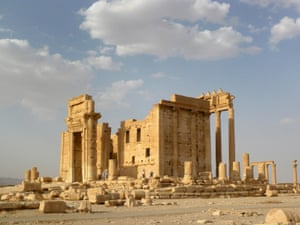 The Temple of Bel in 2010. Isis targeted the site with a powerful blast on Sunday.