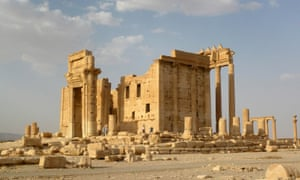 The Temple of Bel in the historical city of Palmyra, before its destruction by Isis.