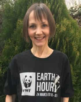 Reader Jo Harper with her Earth Hour T shirt.