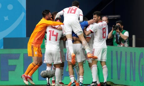 Aziz Bouhaddouz own goal in added time hands Iran win against Morocco