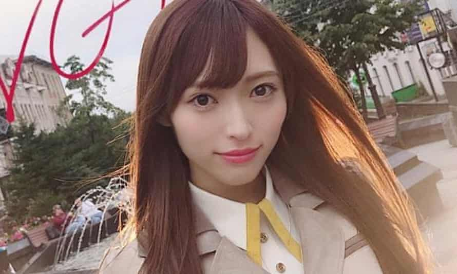 Instagram image of Maho Yamaguchi, a member of pop idol group NGT48 out of Niigata, Japan