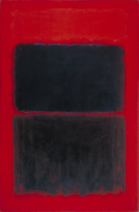 Wall of mystery … Light Red Over Black, a 1957 work by Mark Rothko.