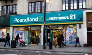 A Poundland store in Brixton, south London