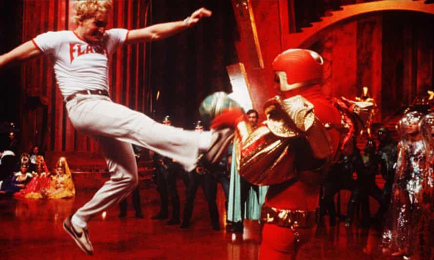 Flash Gordon - 1980Editorial use only. No book cover usage. Mandatory Credit: Photo by Universal/Kobal/REX/Shutterstock (5885752ag) Sam J. Jones Flash Gordon - 1980 Director: Mike Hodges Universal BRITAIN Scene Still
