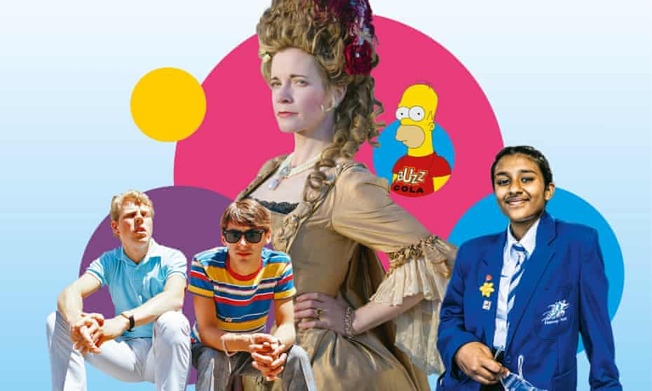 From left: the Style Council; Lucy Worsley; The Simpsons; and Educating Greater Manchester