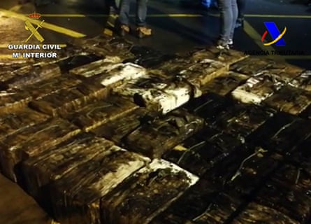 Police found 152 bales of cocaine.