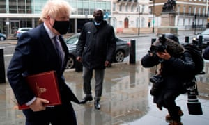 Boris Johnson arriving at the BBC this morning ahead of his interview with Andrew Marr.