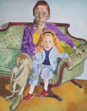 Linda Nochlin and Daisy by Alice Neel