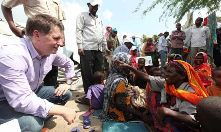 Justin Forsyth working in Somalia for Save the Children