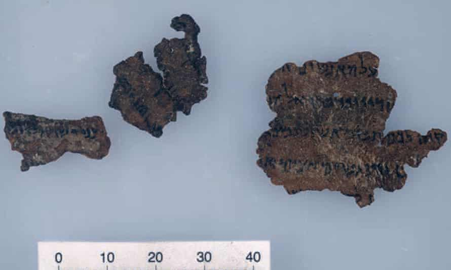A photograph of a purported Dead Sea Scroll fragment purchased by the Schøyen collection. Experts have cast doubt on its authenticity.