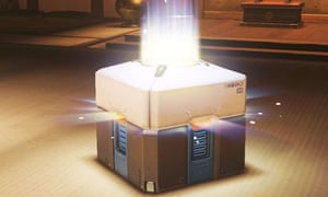 A loot box in the video game Overwatch