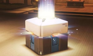 A loot box in popular video game Overwatch.