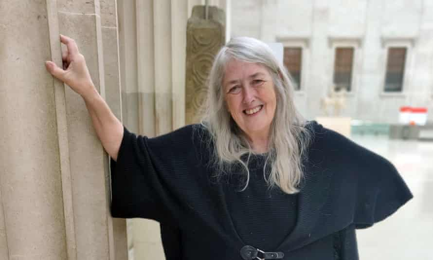 Mary Beard outside the British Museum