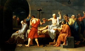 The Death of Socrates by Jacques Louis David, 1787.