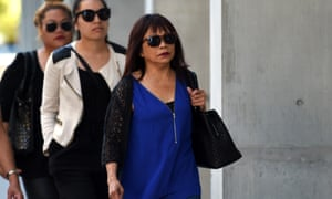 Merzabeth Tagpuno, the mother of New Zealand woman Warriena Wright, arrives at the supreme court in Brisbane on Thursday.
