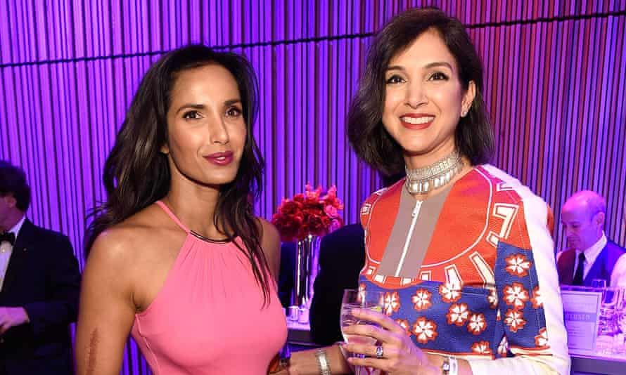 Radhika Jones, right, with Padma Lakshmi in New York last year. The uphill challenge Jones faces is amplified by the dire economics of the magazine industry.