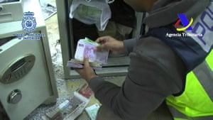 Banknote seizures in Spain