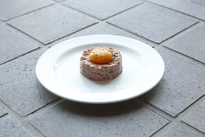 Bistrotheque's steak tartare 'with a neatly placed, wobbly yolk looked pretty.'