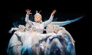 Polly Lister, a 'crackling' Snow Queen in Newcastle-under-Lyme.