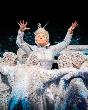 The Snow Queen with her young chorus of snowflakes.