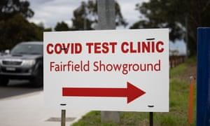 Coronavirus testing at Fairfield showground.