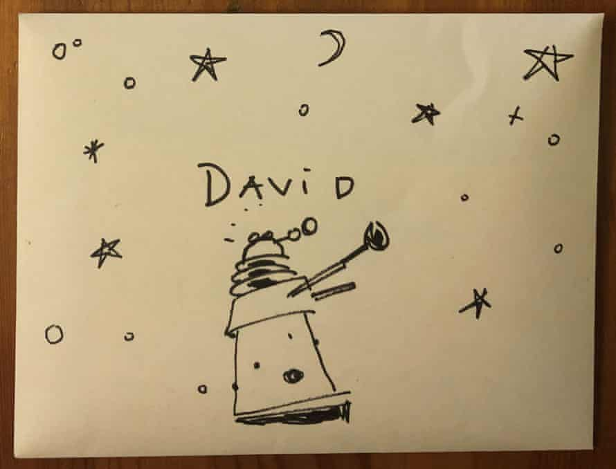 The envelope containing the letter sent by Capaldi to the nine-year-old.