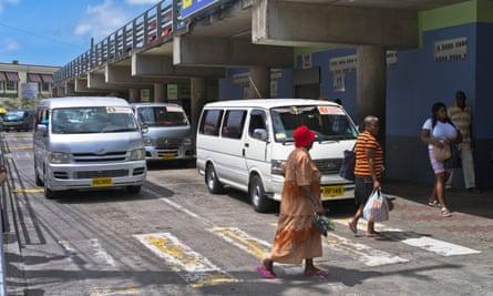 Minibus station, St George's, Grenada