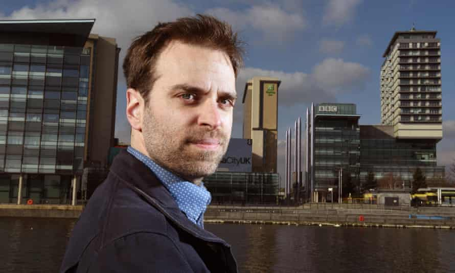 BBC radio journalist Dan Maudsley in Salford