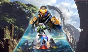 Fight and flight … forthcoming multiplayer online sci-fi shooter Anthem.