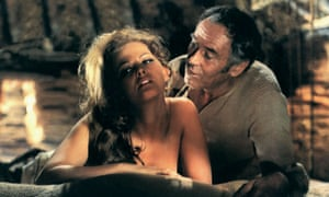 Claudia Cardinale and Henry Fonda in Sergio Leone's Once Upon a Time in the West.