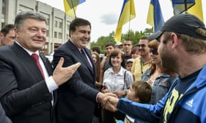 Poroshenko and Saakashvili last May.