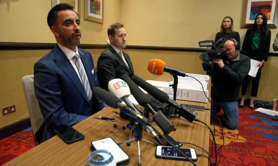 Lawyer Aamer Anwar speaks to the media at the Marriott Hotel, Glasgow