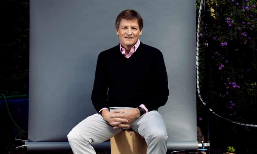 Michael Lewis photographed at home in Berkley California