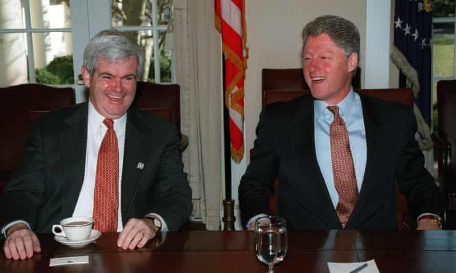 NEWT GINGRICH & BILL CLINTON in 1995