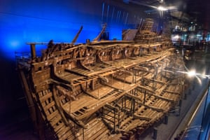 The wreck of the Mary Rose, which has had years of painstaking preservation.