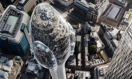 Artist's impression of Norman Foster's proposed Tulip building in London.