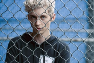 Troy Sivan in a still from the film Boy Erased