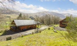 'A welcoming sight at the end of a long, winding road': lodges with hot tubs at the Glen Clova Hotel.