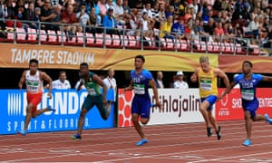 Lalu Muhammad Zohri wins a race in Tampere, Finland