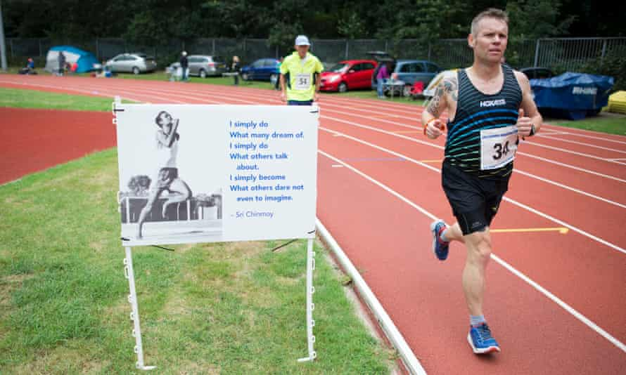 The winner, James Stewart, runs a staggering 160 miles during the 24-hour race.