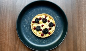 'I wish I could be just as enthusiastic about the desserts': sweetcorn tart.
