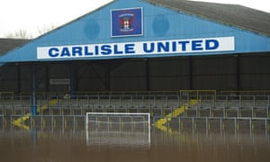 Carlisle have been forced to play home matches at Preston, Blackpool and Blackburn after Storm Desmond ravaged their Brunton Park stadium.