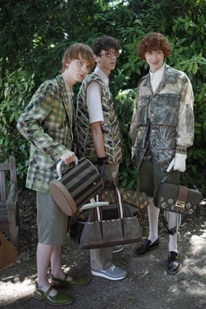Models wear clothes reflecting the horticultural theme