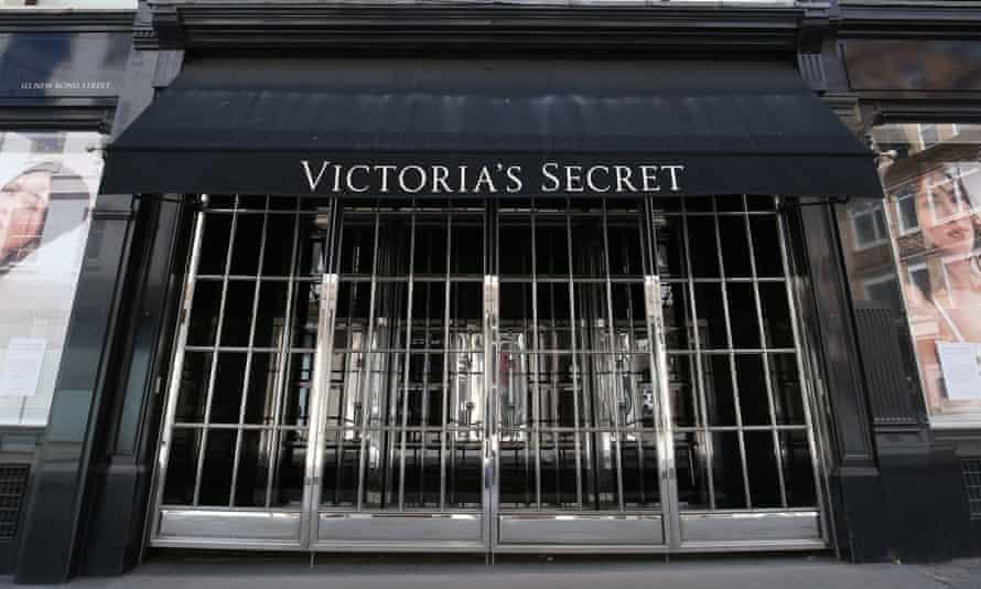 A closed Victoria's Secret store on New Bond Street, London