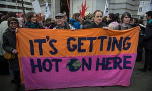 An Extinction Rebellion protest at the Australian embassy in London